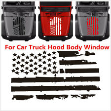 Universal Black USA Flag Car Truck Hood Body Window Vinyl Decal Sticker 51x90cm