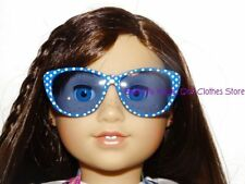 Blue Polka Dot Sun Glasses 18 in Doll Clothes Accessory Fits American Girl Doll