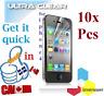 10X HD ULTRA clear screen protector iphone 4 4S 4G film Protecteur ecran clair