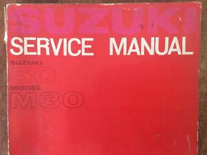 Suzuki 50 M30 Service Manual VGC