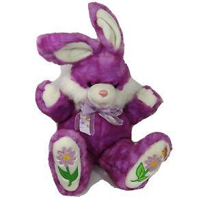 "Dan Dee Hoppy Hopster Plush Bunny Rabbit Easter Purple 22"" w/Original Tag"