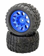 Tires 220mm x 120mm with BAJA Wheel Adapters Blue Traxxas X-MAXX Wheels 4