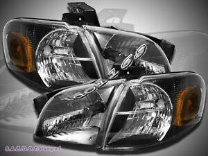 97-05 Venture Silhouette Transport Montana Headlights Corner Lights Black