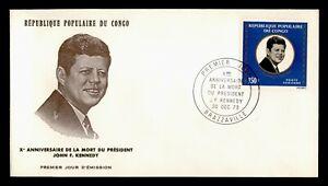 DR WHO 1973 CONGO FDC 10TH ANNIV DEATH OF JFK JOHN F KENNEDY  C239833