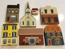 Cats Meow Village Buildings - Lot of 6 pieces