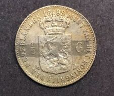 1898 Netherlands 1/2 Gulden Silver Rare