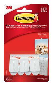 3M Command Hooks Micro White 17066 Reusable Damage Free
