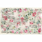 Floral Wallpaper 2 SHEETS (19″ X 30″) decoupage material by redesign with Prima!