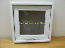 "Awing Window 16"" x 16"" Vinyl PVC Home Tiny House Playhouse Shed  Hopper Window"