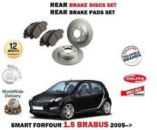 Per SMART FORFOUR 1.5 Brabus 2005 - > NUOVO SET DISCHI FRENO POSTERIORE + PASTIGLIE DISCO KIT