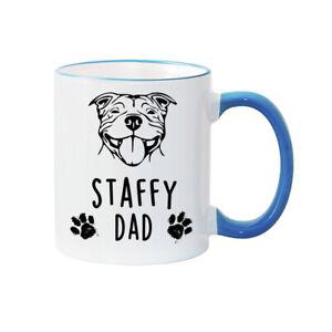 STAFFY MUM AND DAD MUGS - Personalised Mug - STAFFY DOG