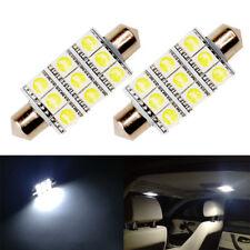 2 x White LED Interior Map Dome Trunk Lights 42mm 578 211-2 212-2 Festoon Bulbs