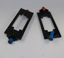 LEGO 2x city Tren Locomotora Tren Placa 6x16 eisenbahnplatte Colgante Negro