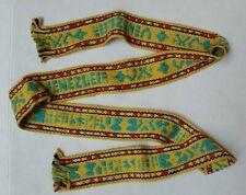 "Vintage HAND WOVEN TIE BELT Fringe - Venezuela - 2"" x 56"""