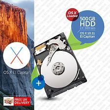 MacBook Pro, Mac Mini:: 500gb 2.5 POLLICI:: HDD (Hard Disk) OS X Caricato
