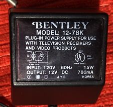 Bentley 12-78K Ac 12V Dc 780mA 15W Power Adapter