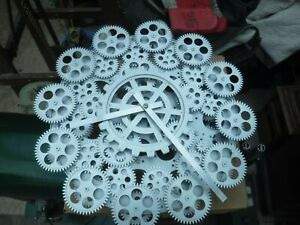 Unusual  Wall Clock  fully  moving all cogs rotate  hands tell the time
