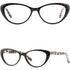 Federbügel Cateye Damen Brille Plastik Butterfly Brillengestell Fassung Schwarz