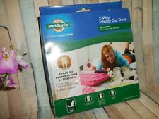 Petsafe 2 Way Cat Door ~ Small 15Lbs ~ Clear / White ~ New ~ Fast Shipping