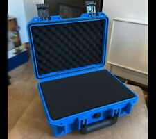 Blue Waterproof Storage Box Plastic Hard Carry Tool Case Photography with Sponge