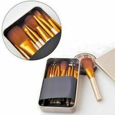 12Pcs Make up Brush Set KABUKI PROFESSIONAL Powder Foundation Blusher + Tin Case
