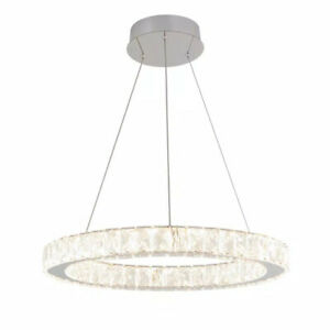Artika Celebrity 20-Watt Integrated LED Chrome Pendant with Clear Crystals