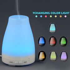 Essential Oil Diffuser Aromatherapy Cool Mist Ultrasonic Humidifier 7-Color LED