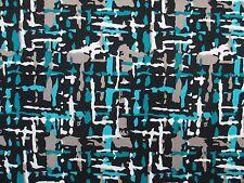 3 yards stretch spandex lycra fabric cool print