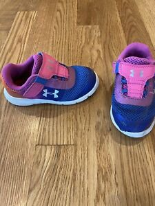UNDER ARMOUR TODDLER GIRLS SNEAKERS/TENNIS SHOES PINK  SIZE 7