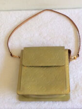 LOUIS VUITTON AUTH MOTT VERNIS BEIGE/GOLD MONOGRAM SHOULDER HAND BAG