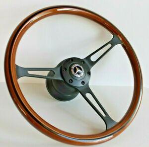 Steering Wheel Mercedes Benz Wood Classic W123 W124 W126 W201 R107 W116 1978-92