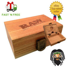 RAW Deluxe Wooden Rolling Smokers Authentic Storage Box