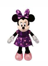 "New! Ty Beanie Minnie Mouse Sparkle Purple Plush Disney Toy Doll - 13"""