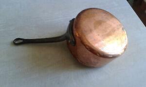 Casserole 16,5 cm en cuivre massif étamé. Cuisine.