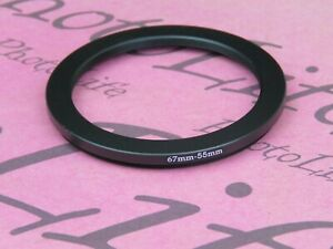 67mm to 55mm 67mm-55mm Stepping Step Down Filter Ring Adapter