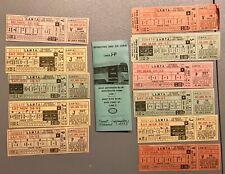 Mta, Los Angles, California Lines J-P Bus Schedule, Dec 23, 1962 + 10 tickets