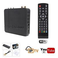 Internet WIFI Digital tv box UHF VHF receiver receptor media player tuner dvb t2
