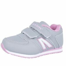 NEW GIRLS KIDS LEATHER INSOLES TRAINERS SPORTS STRAP PLIMSOLLS WALK SHOES SIZE 8