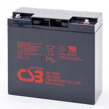 CSB GP 12200 Rechargeable Sealed Lead Acid UPS Battery 12V 20Ah GP12200 SLA
