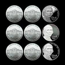 2010 2011 2012 P+D+S Jefferson Nickel ~ Gem Proof & P+D from Mint Sets (9 Coins)