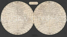 """ARROWSMITH AARON - MAP OF THE WORLD, 1812-Offset Lithograph 22"""" x 40"""" (40182)"""