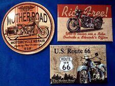 Fridge Magnet Theme Set ~ Route 66 Ride Free ~ Lot of 3 Refrigerator Magnets