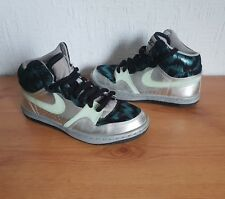 best website 236ce 072be Women's/Girls Nike Court Force Peacock Metallic/Silver Mid Trainers - Size  ...