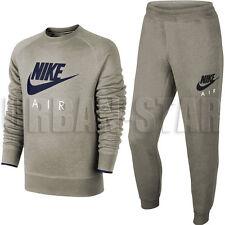 Nike Swoosh Club Hoody Fleece Men's Classic Sweatshirt Hoodie Hooded Sweater Grey XL