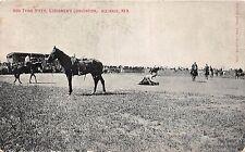 C14/ Alliance Nebraska Ne Postcard c1910 Hog Tying Steer Stockmen's Convention