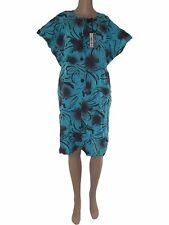 abito vestito tunica donna turchese floreale taglia it 54 xxxl extra large