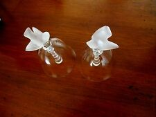A Beautiful Pair Of Vintage Lalique Bells From The 50s. In Pristine Conditoin