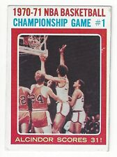1971-72 Topps - 70-71 Championship Gm / Lew Alcindor - #133 - VG/EX Condition