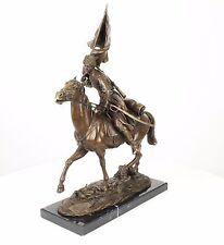 Bronze Sculpture Cavalier Cosaque sur le cheval neuf 9973385-dssp