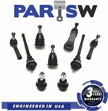 9 Pc Front Suspension Kit for Silverado Sierra Yukon Inner & Outer Tie Rod Ends